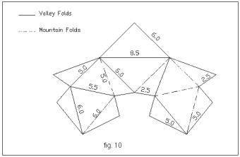 Patron du polyèdre de Steffen