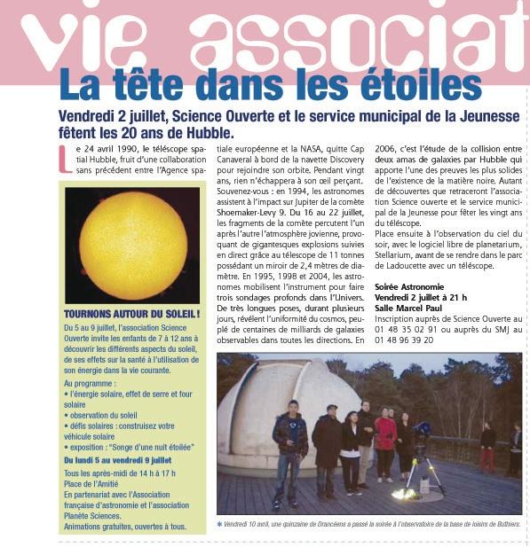 Article astro juin 2010