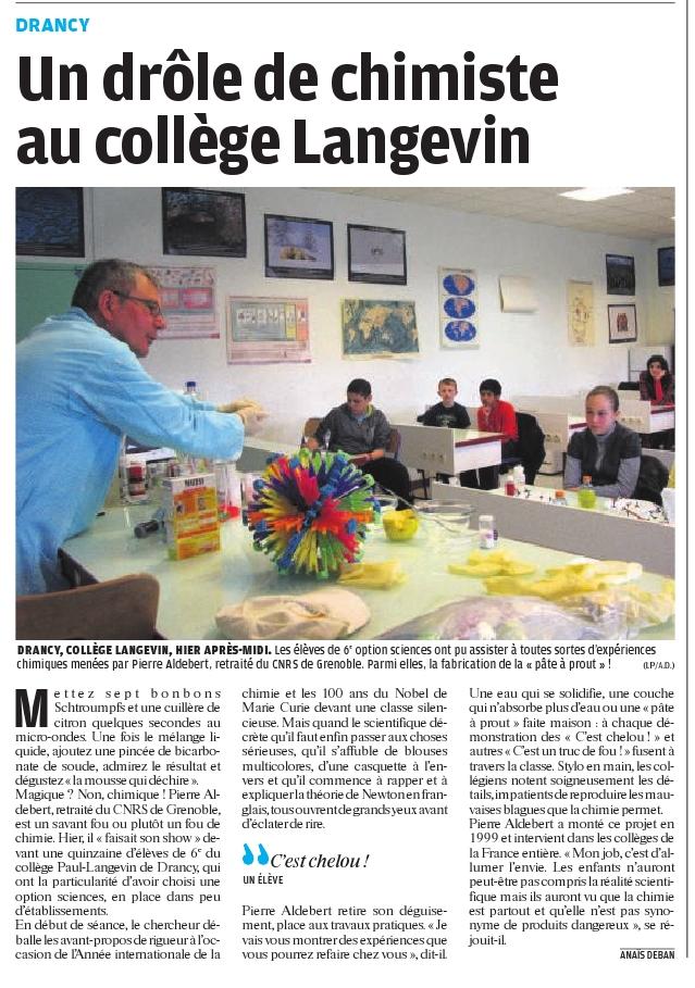 Article Parisien avril2011