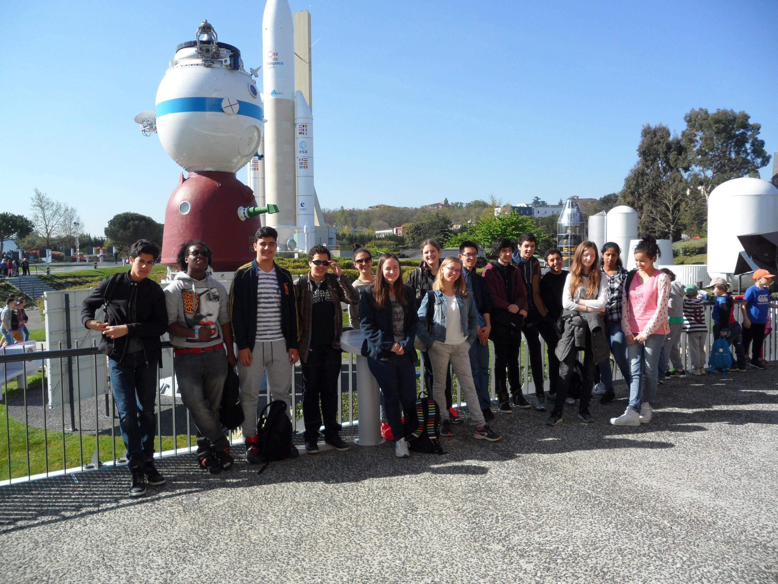 Visite de la cité de l'espace à Toulouse