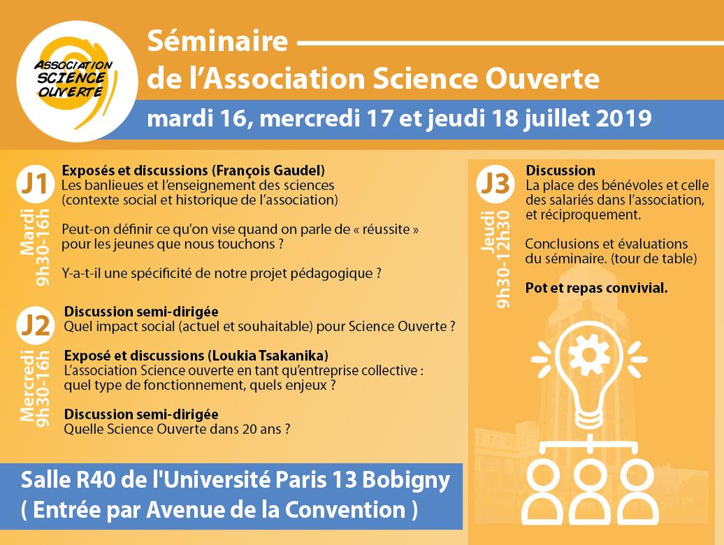 Invitation Séminaire Association Science Ouverte 2019